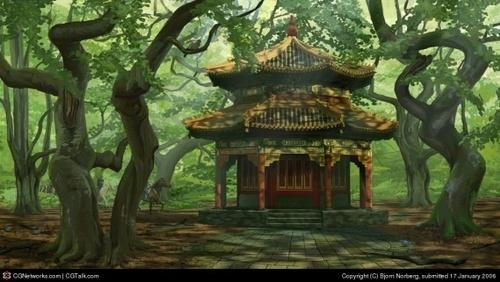 Le temple thaï...