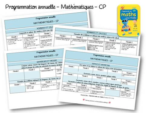 2018-2019 Programmation annuelle Picbille CP