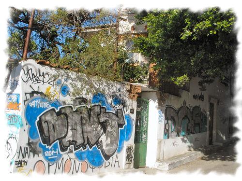 Dans les rues d'Athènes...