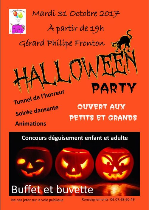 HALLOWEEN PARTY du mardi 31 octobre