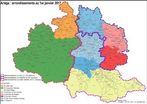 Arrondissements et Communautés de Communes de l'Ariège