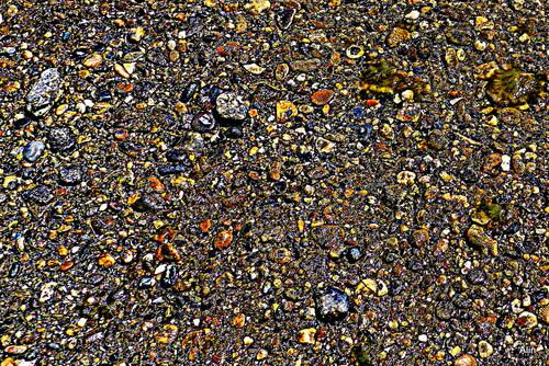 Variation : des galets dans l'eau