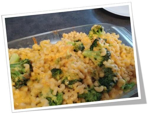 Gratin de pâtes aux brocolis façon Mac'n'cheese