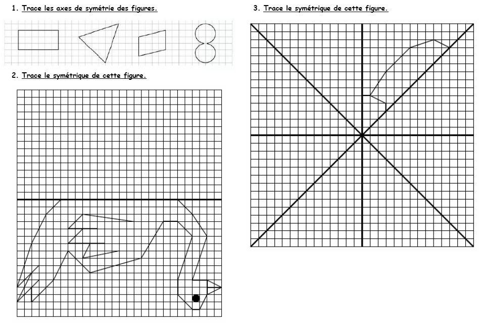 Bien connu La symétrie CM2 - l'école de Lilai ID54