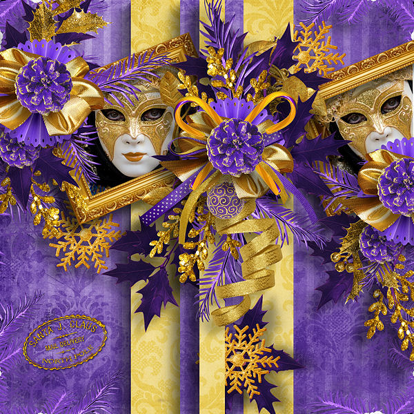 """Have a gold and purple merry christmas"" by Valkyrie Designs"