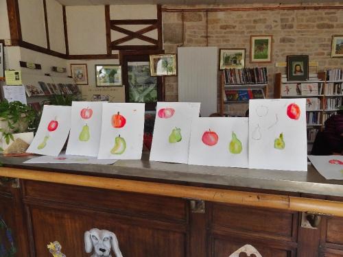 atelier de peinture à Laignes