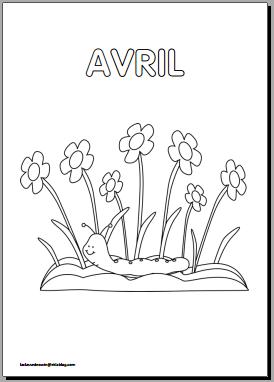 Coloriages mois de l 39 ann e en maternelle la classe d 39 eowin - Coloriage mois d avril ...