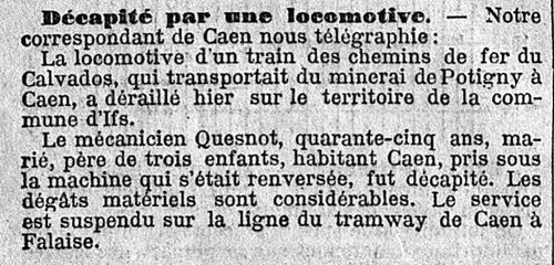 Pass'IFS : accident ferroviaire en 1913