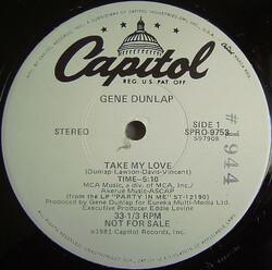Gene Dunlap - Take My Love