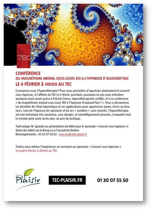 Conférence : du magnétisme animal sous Louis XVI à l'hypnose d'aujourd'hui - 4 février 2020 au TEC