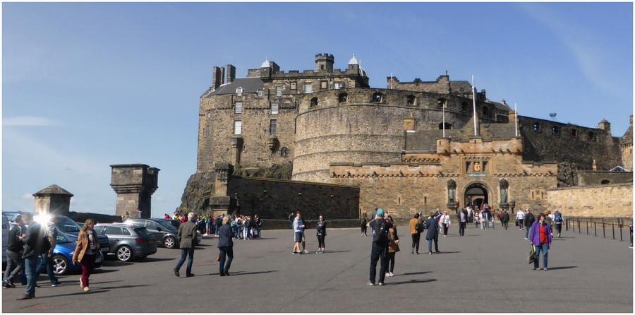 Voyage en Ecosse : Edimbourg 3 : le château médièval....