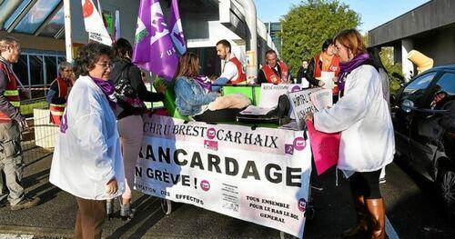 CHRU-Brest : nouveau mouvement de grève des brancardiers (OF.fr-3/11/2018-3h26)