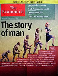 """Evolution de l'homme - Une du journal """"Economist"""" en 2005"""