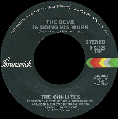 "The Chi-Lites : Album "" Half A Love "" Brunswick Records BL 754204 [ US ]"
