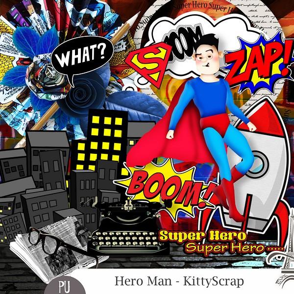 ESSENTIEL - Hero Man de kittyscrap