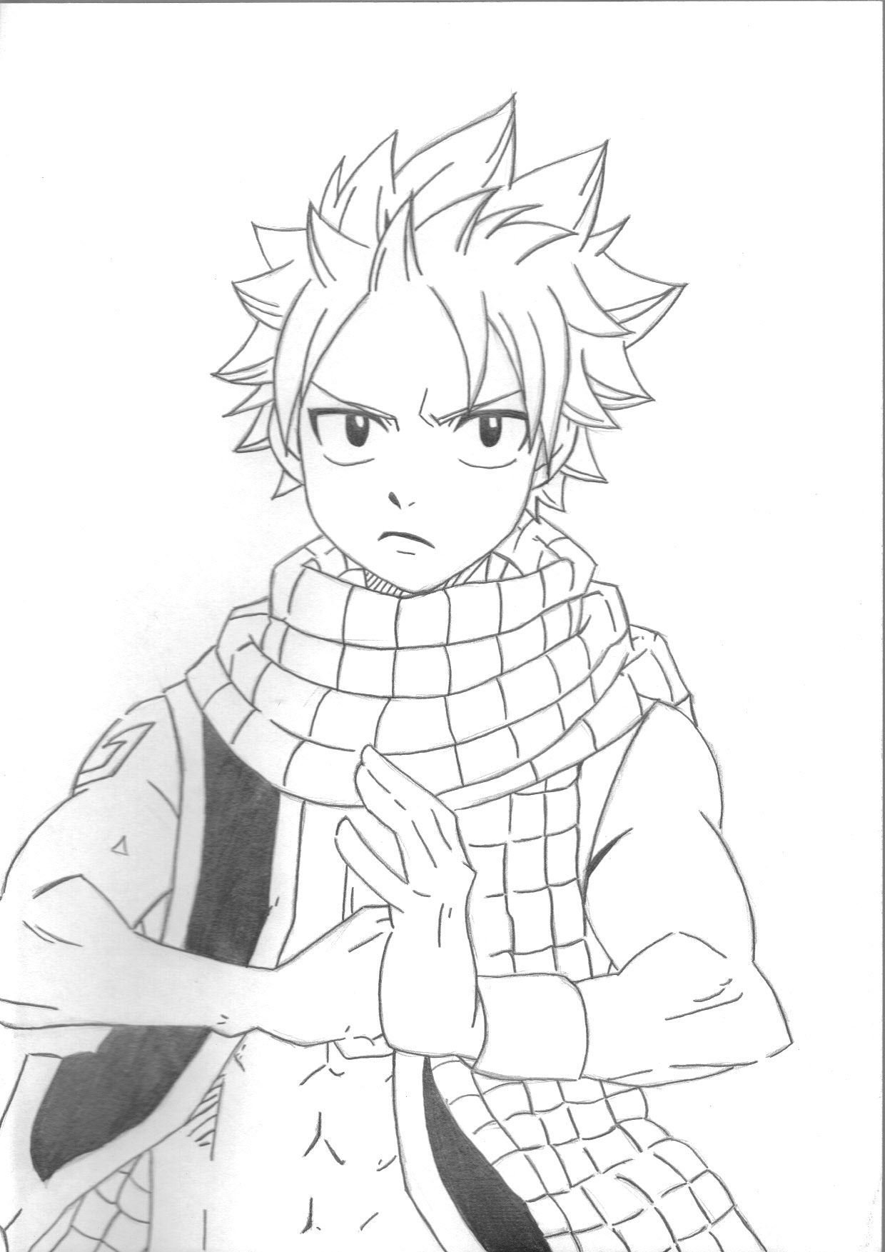 Dessins en noir et blanc mangas anthologie - Fairy tail coloriage ...