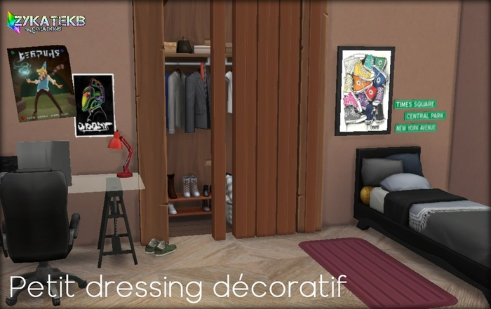 Petit dressing décoratif.