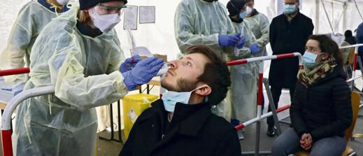 Le 23 mars, à Munich, dans un centre de dépistage Covid-19. Matthias Schrader/AP/SIPA