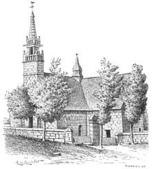 Chapelle des 7 saints du Vieux Marché au XIXe siècle