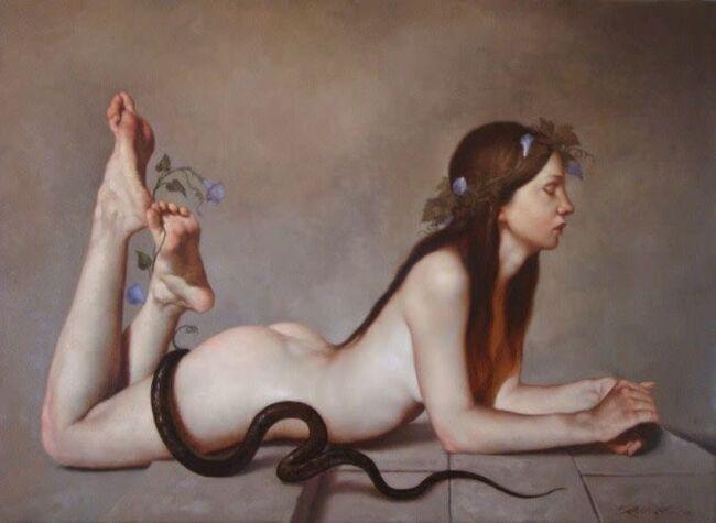 peintre italien, Roberto Ferri,    ...........Ferri, maître du baroque contemporain..