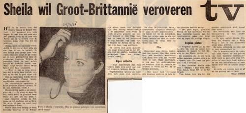19 mars 1968 / TIENERKLANKEN (VRT) - INTROUVABLE
