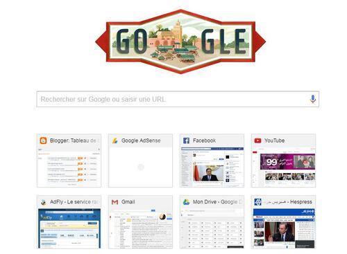 google fête l'indépendance du Maroc