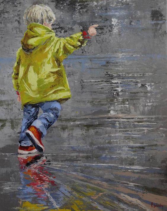 Peinture_Cirés jaunes - Patricia Debuchy