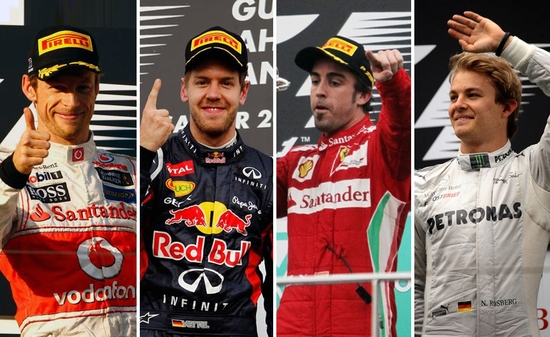 4 vainqueurs F1 4 GP