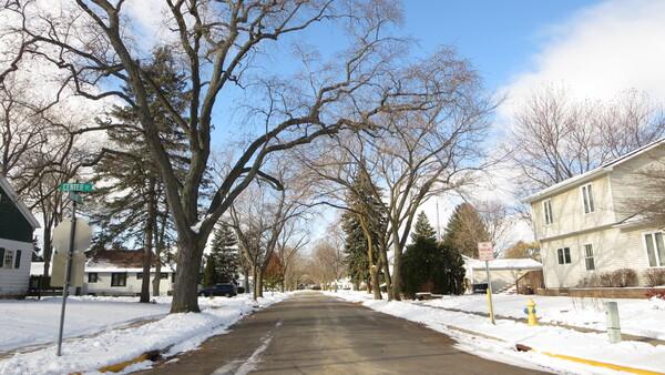 Une balade dans le quartier d'hiver.