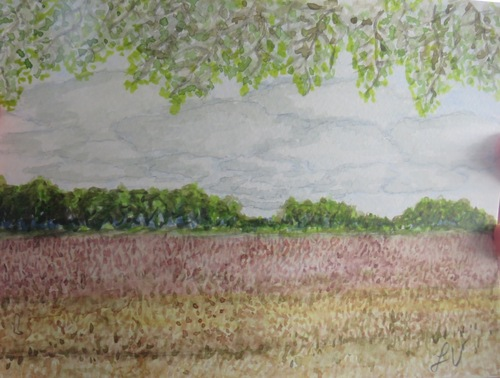 Aquarelle à Barbizon avec Marie