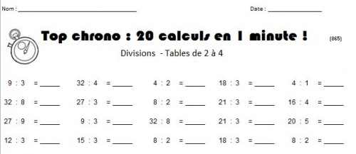 Exercices tables de multiplication 2 3 4 5 tests tables for Table de multiplication de 2 a 9