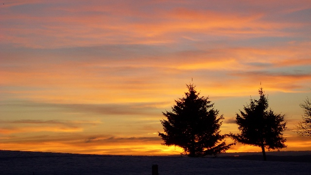 coucher de soleil aux supeyres