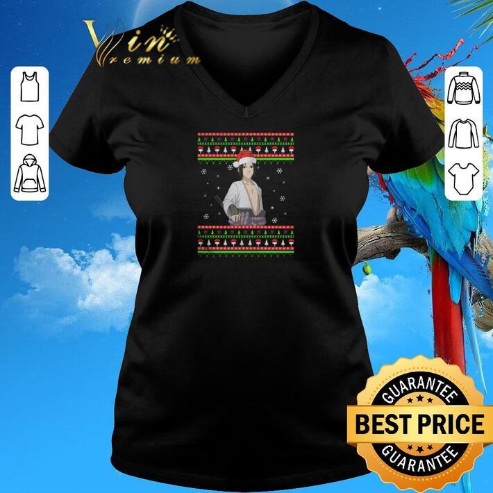 Original Santa Sasuke ugly Christmas shirt