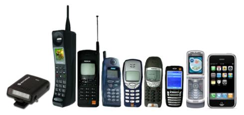 Évolution technologie le cellulaire
