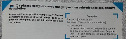 C / La proposition conjonctive