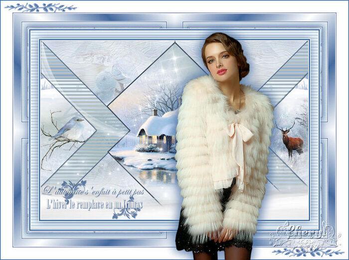 Cadeaux reçus de Chéryl pour symboliser l'hiver