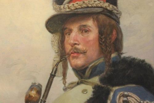 Hussard fumant la pipe, E. Detaille