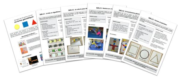 Continuité pédagogique TPS/PS - Les formes géométriques