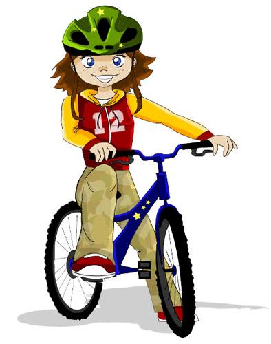 Sortie en v lo le crayon de cyraf - Cycliste dessin ...
