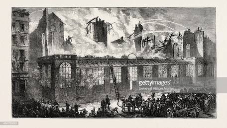 "Résultat de recherche d'images pour ""giclee print: burning of the old paris opera house, viewed from the rue le peletier, france, 1873 at art.com: size: 24x16in"""