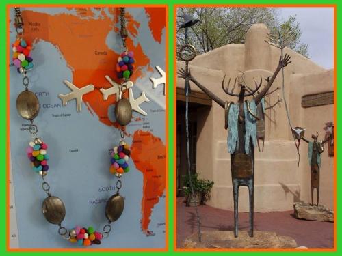 Sautoir coloré - Statues dans les rues de Santa Fe