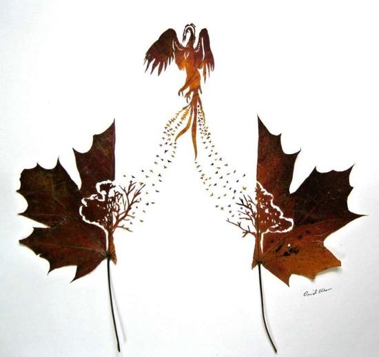 Feuilles sculturées :  d'Omid Asadi