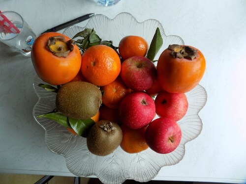 Fruits et légumes et pains