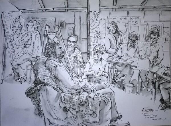 Scène d'atelier (66) : la fin de la séance.