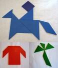 Pâques en tangram