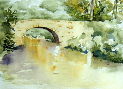 Petit pont sur l'eau