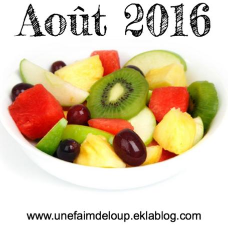 Août 2016 : les fruits & Légumes de saison