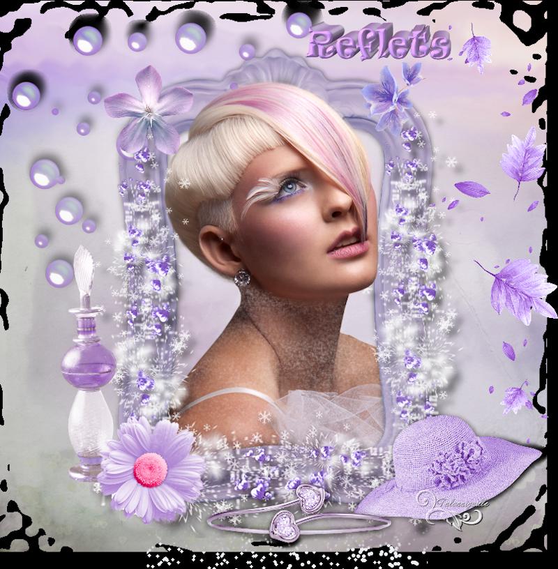 ♥♥♥ Reflets - scrap sans tuto ♥♥♥