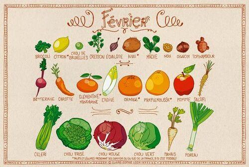 Le calendrier des légumes