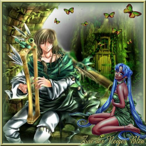 Défi féerique l'homme et la harpe